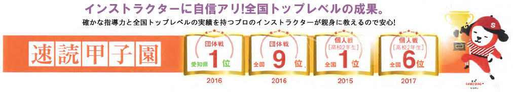 2017年まで速読甲子園結果